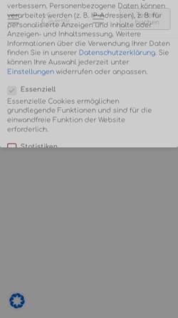 Vorschau der mobilen Webseite www.cinderella-brautmoden.de, Cinderella Brautmoden