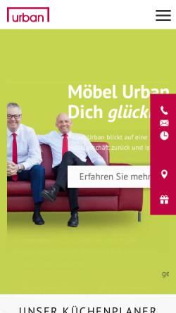 Vorschau der mobilen Webseite www.moebel-urban.de, Möbel Urban
