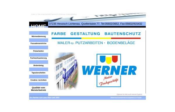 Vorschau von www.malermeister-werner.de, Maler Fachgeschäft - Karlfried Werner