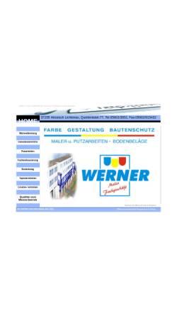 Vorschau der mobilen Webseite www.malermeister-werner.de, Maler Fachgeschäft - Karlfried Werner