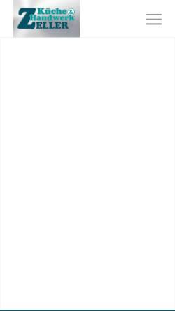 Vorschau der mobilen Webseite kueche-und-handwerk.de, Küche und Handwerk Zeller