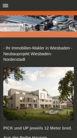 Vorschau der mobilen Webseite www.noack-immobilien.de, Erika Noack - Noack Immobilien