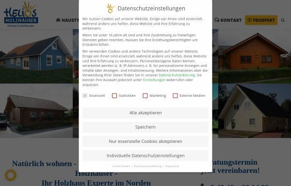 Vorschau von www.blockhaus.de, Helios-Holzhäuser GmbH