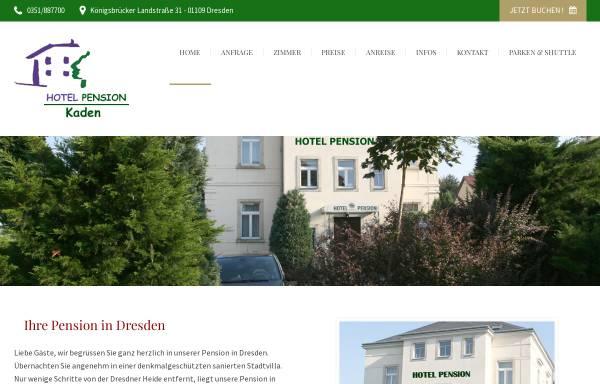 Vorschau von www.hotel-pension-kaden.de, Hotel Pension Kaden