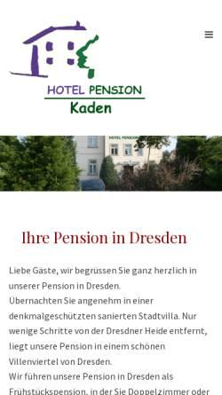Vorschau der mobilen Webseite www.hotel-pension-kaden.de, Hotel Pension Kaden