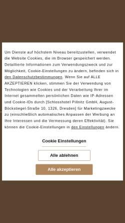 Vorschau der mobilen Webseite www.schlosshotel-pillnitz.de, Schlosshotel Pillnitz