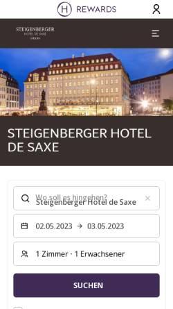 Vorschau der mobilen Webseite www.steigenberger.com, Steigenberger Parkhotel