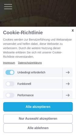 Vorschau der mobilen Webseite www.diehundert.org, Cafe 100