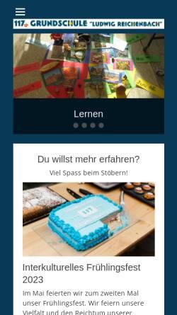 Vorschau der mobilen Webseite www.117grundschule.de, 117. Grundschule