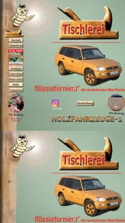 Vorschau der mobilen Webseite www.holzfahrzeuge-1.de, Tischlerei und Holzdesign Lutz Weissbach