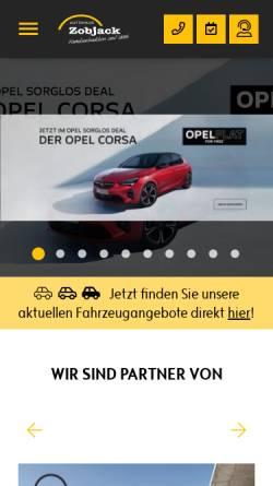 Vorschau der mobilen Webseite www.autohauszobjack.de, Autohaus Zobjack GmbH
