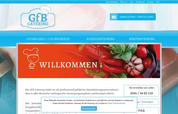 Vorschau von www.gfb-catering.com, GfB mbH Geschäftsbereich Catering
