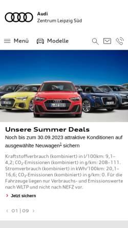 Vorschau der mobilen Webseite www.audizentrumleipzig.de, Audi Zentrum Leipzig Süd
