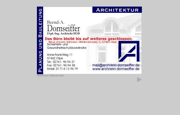Vorschau von www.architekt-dornseiffer.de, Architekt Bernd-A. Dornseiffer