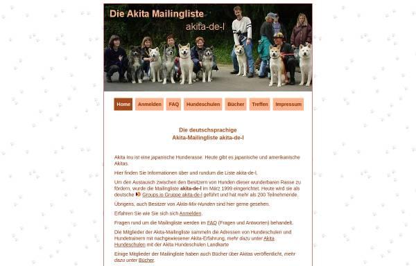 Vorschau von www.akita-mailingliste.de, Akita Mailingliste