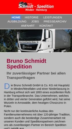 Vorschau der mobilen Webseite www.bruno-schmidt.de, Bruno Schmidt GmbH & Co. KG
