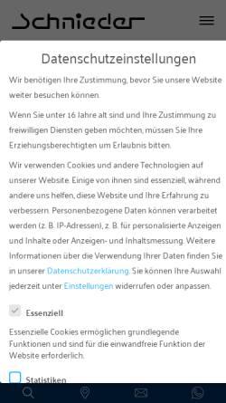 Vorschau der mobilen Webseite www.schnieder.de, Autohaus Fritz Schnieder