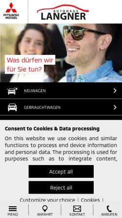 Vorschau der mobilen Webseite www.langner-herford.de, Autohaus Langner