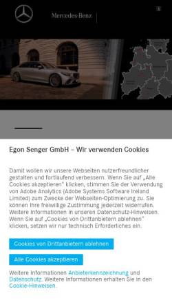Vorschau der mobilen Webseite www.ebmeyer.mercedes-benz.de, Hermann Ebmeyer GmbH & Co. Mercedes-Benz Partner