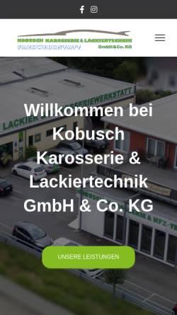 Vorschau der mobilen Webseite www.kobuschdesign.de, Kobusch Lackiertechnik GmbH & Co KG