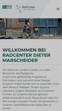 Vorschau der mobilen Webseite www.radcenter-dm.de, RadCenter Dieter Marscheider