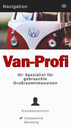 Vorschau der mobilen Webseite www.van-profi.de, Van-Profi Hans-Jürgen Mothes