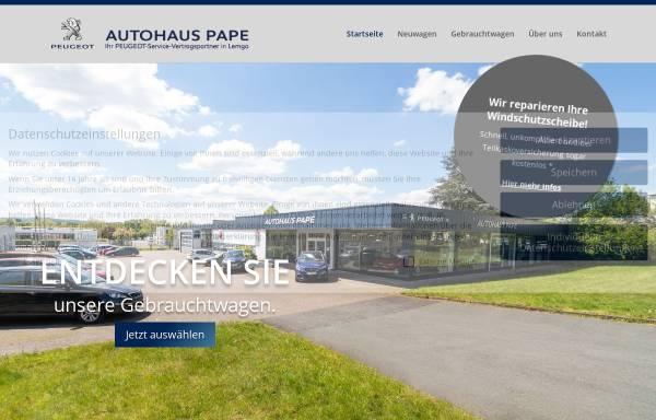 Vorschau von autohaus-pape.de, Autohaus Pape GmbH