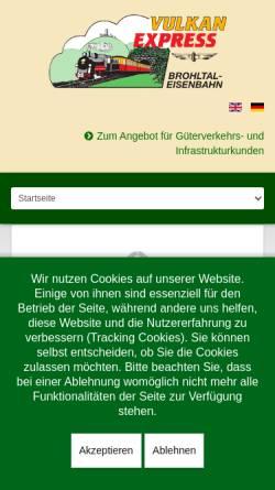 Vorschau der mobilen Webseite www.vulkan-express.de, Vulkan-Expreß
