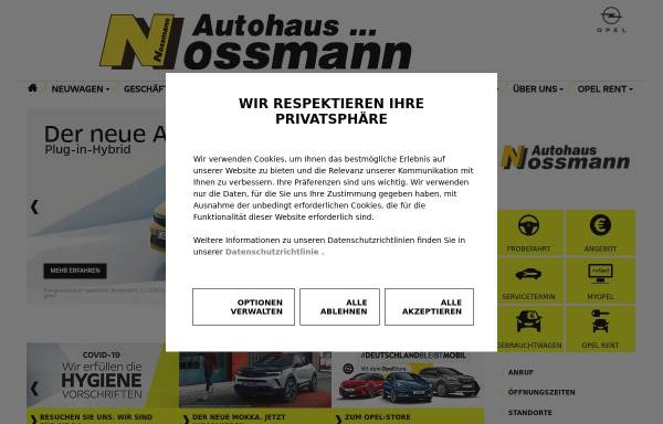Vorschau von www.opel-nossmann.de, Autohaus Nossmann GmbH