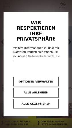 Vorschau der mobilen Webseite www.opel-nossmann.de, Autohaus Nossmann GmbH