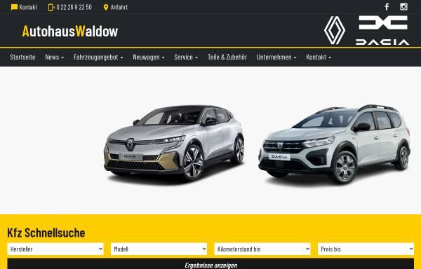 Vorschau von www.autohaus-waldow.de, Autohaus Waldow GmbH