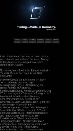 Vorschau der mobilen Webseite www.bb-automobiltechnik.de, B&B Automobiltechnik GmbH