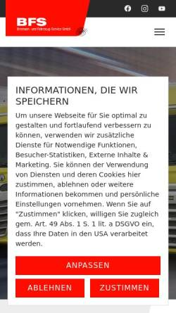 Vorschau der mobilen Webseite www.bfs-siegen.de, BFS Bremsen- und Fahrzeug- Service GmbH