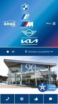 Vorschau der mobilen Webseite www.bmw-ernst.de, Bernhard Ernst GmbH