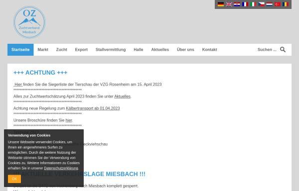 Vorschau von www.zuchtverband-miesbach.com, Zuchtverband für oberbayrisches Fleckvieh Miesbach e.V.