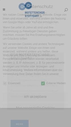 Vorschau der mobilen Webseite www.motettenchor-stuttgart.de, Motettenchor Stuttgart