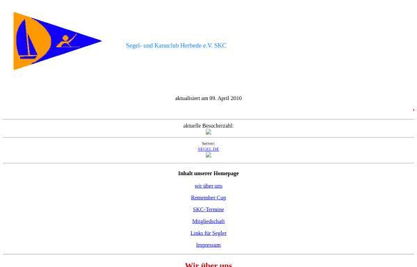 Vorschau von www.segel.de, Segel- und Kanuclub Herbede e.V.