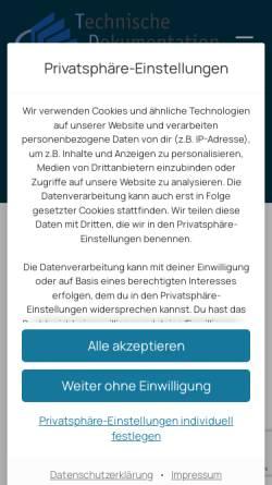 Vorschau der mobilen Webseite www.boehne-warns.de, Böhne und Warns, Technische Dokumentation