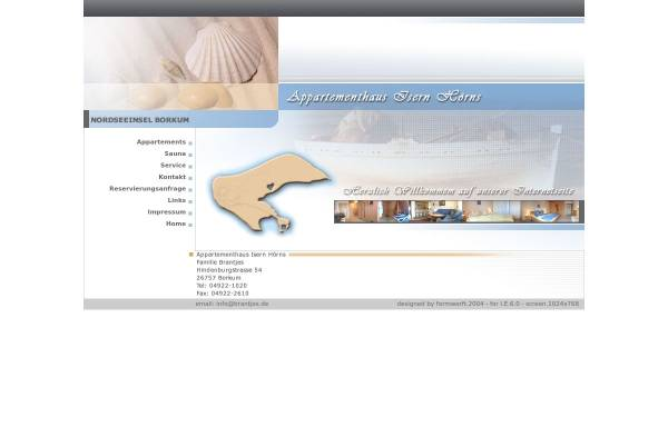 Vorschau von www.brantjes.de, Appartementhaus Isern Hörns
