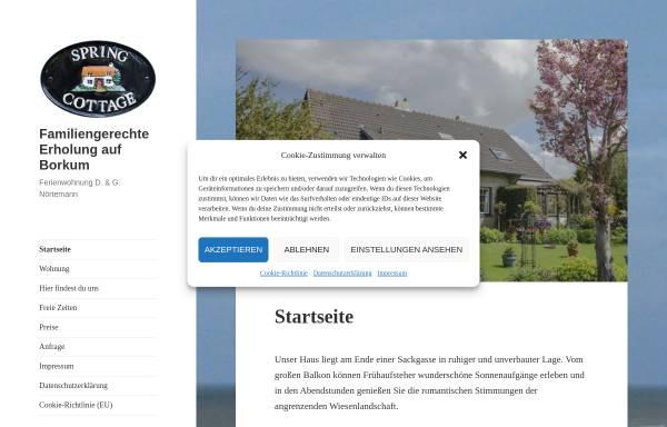 Vorschau von www.borkum-online.de, Ferienhaus Nörtemann