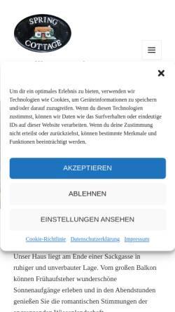 Vorschau der mobilen Webseite www.borkum-online.de, Ferienhaus Nörtemann