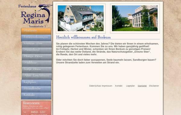 Vorschau von www.borkum-braun.de, Ferienhaus Regina Maris