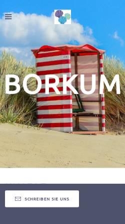 Vorschau der mobilen Webseite www.ferieninsel-borkum.de, Ferienhaus Strandloper