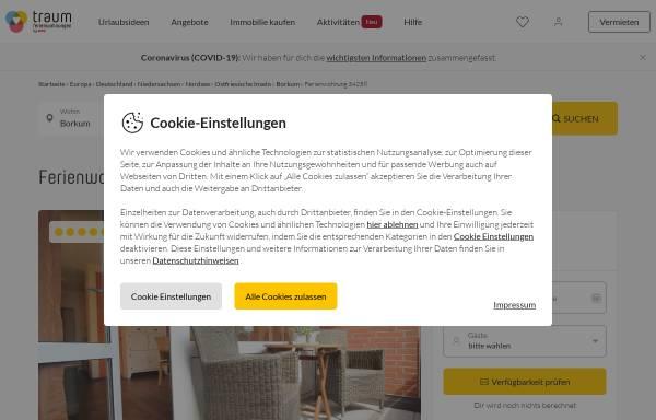Vorschau von www.borkum-trauminsel.de, Ferienwohnung Bollhöffner