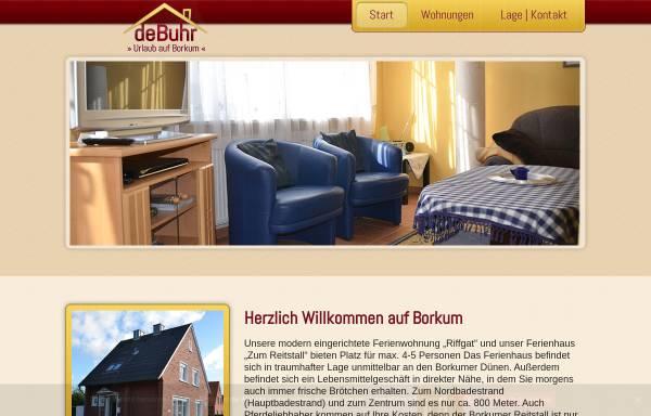 Vorschau von www.ferienwohnung-debuhr-borkum.de, Ferienwohnung de Buhr