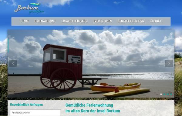 Vorschau von www.borkum-geniessen.de, Ferienwohnung, Familie Bäumer