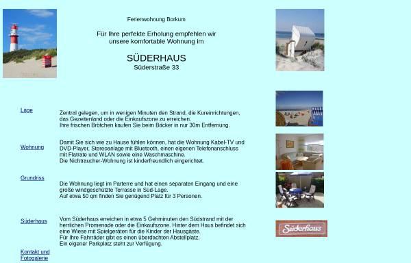 Vorschau von www.borkum-ferienhaus.de, Ferienwohnung, Familie Brandt-Groscurth