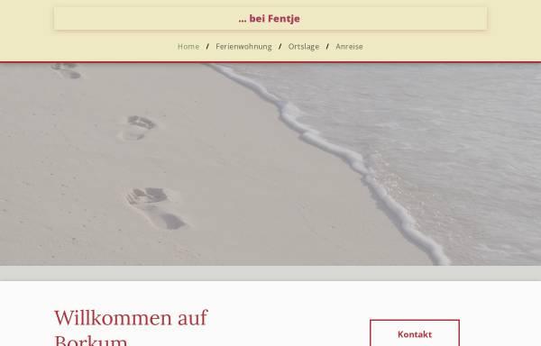 Vorschau von fentje.de, Ferienwohnung Fentje