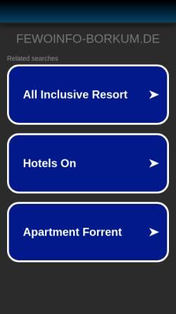 Vorschau der mobilen Webseite fewoinfo-borkum.de, Ferienwohnung Knicker