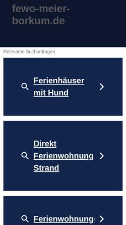 Vorschau der mobilen Webseite www.fewo-meier-borkum.de, Ferienwohnungen Günther Meier